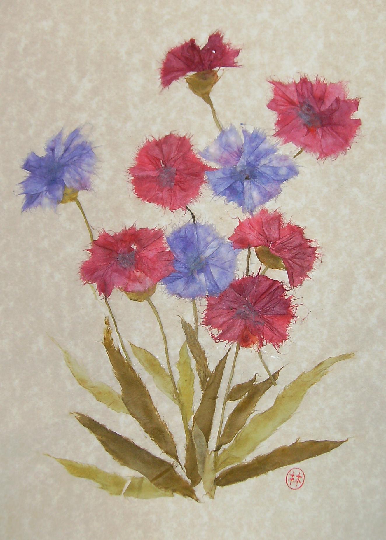 Shuko shikauchi japanese english interpreting translating ghost torn paper art wild flowers mightylinksfo